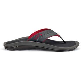 OluKai M's Kipi Beach Sandals Dark Shadow/Dark Shadow
